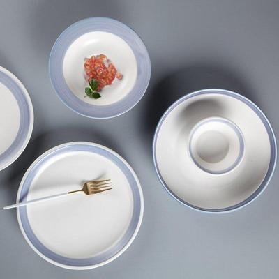 Fresh Style Round Color Porcelain Dinner Set With